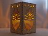 Candle Lantern, Sunshine Pattern Light Boxes, Laser Cut From MDF